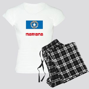 Mariana Flag Retro Red Design Pajamas