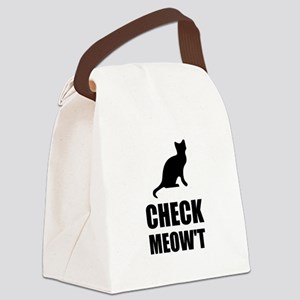 Check Meow Cat Canvas Lunch Bag
