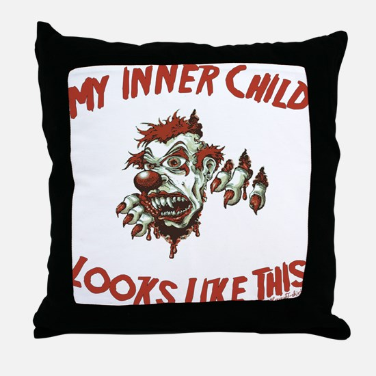 My Inner Child Looks Like This Throw Pillow