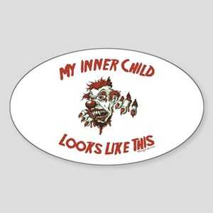 My Inner Child Looks Like This Oval Sticker