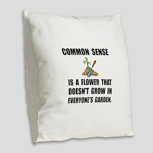 Common Sense Garden Burlap Throw Pillow
