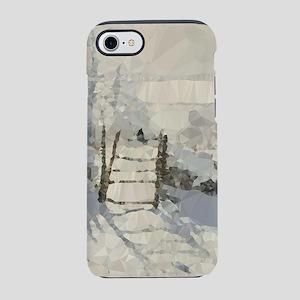 Monet Magpie Snowy Landscape Low Poly iPhone 7 Tou