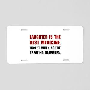 Laughter Diarrhea Aluminum License Plate