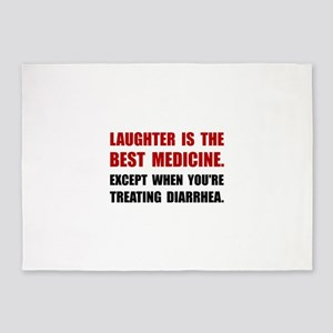 Laughter Diarrhea 5'x7'Area Rug