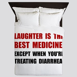 Laughter Diarrhea Queen Duvet