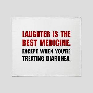 Laughter Diarrhea Throw Blanket