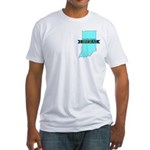 True Blue Indiana LIBERAL Fitted T-Shirt