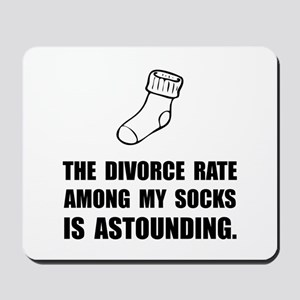 Sock Divorce Mousepad