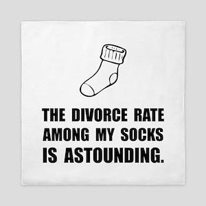 Sock Divorce Queen Duvet