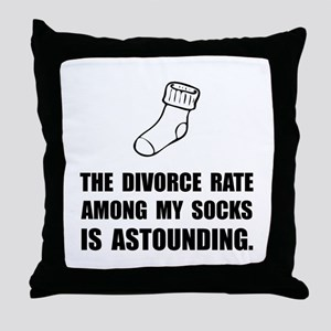 Sock Divorce Throw Pillow