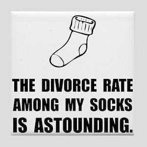 Sock Divorce Tile Coaster