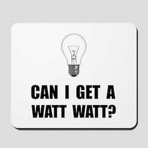 Watt Watt Light Bulb Mousepad