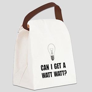 Watt Watt Light Bulb Canvas Lunch Bag