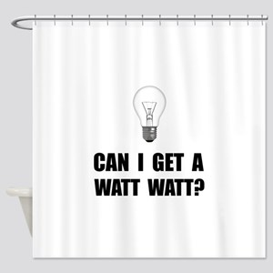 Watt Watt Light Bulb Shower Curtain