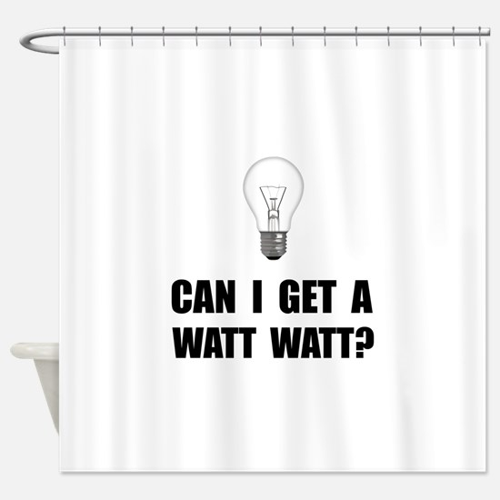 Watt Watt Light Bulb Shower Curtain