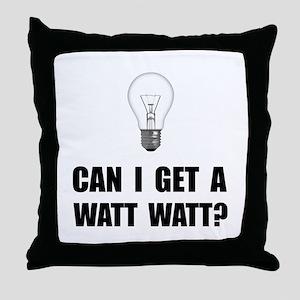 Watt Watt Light Bulb Throw Pillow