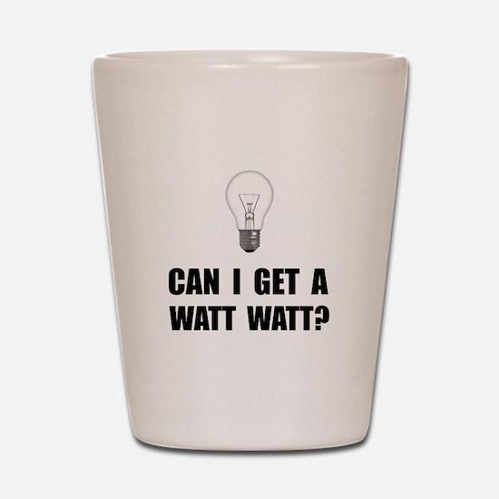 Watt Watt Light Bulb Shot Glass