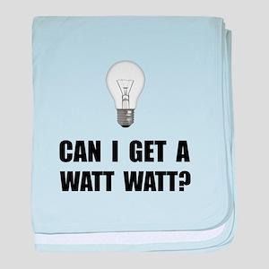Watt Watt Light Bulb baby blanket