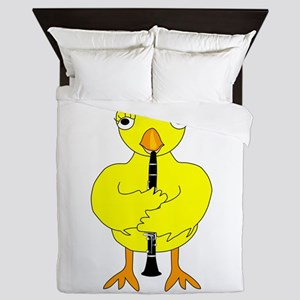 Clarinet Chick Queen Duvet