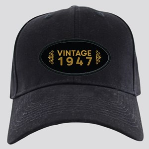 Vintage 1947 Black Cap
