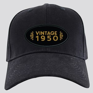 Vintage 1950 Black Cap
