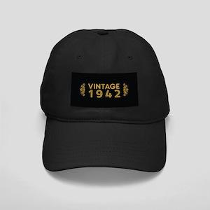 Vintage 1942 Black Cap