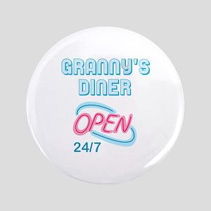 "GRANNYS DINER 3.5"" Button"