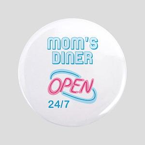 """MOMS DINER 3.5"""" Button"""