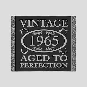 1965 Vintage Fancy Throw Blanket