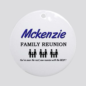 Mckenzie Family Reunion Ornament (Round)