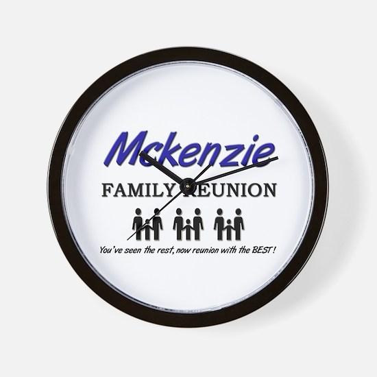 Mckenzie Family Reunion Wall Clock