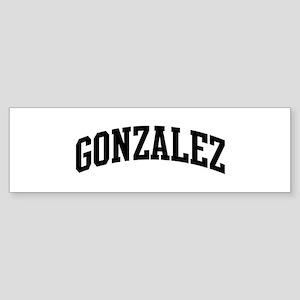 GONZALEZ (curve-black) Bumper Sticker
