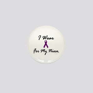 I Wear Purple For My Niece 1 Mini Button