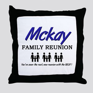 Mckay Family Reunion Throw Pillow