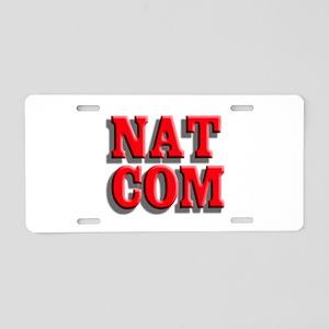 NatCom Aluminum License Plate