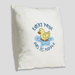 EVERY PATH Burlap Throw Pillow
