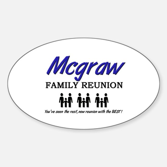 Mcgraw Family Reunion Oval Decal