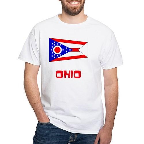 Ohio Flag Retro Red Design T-Shirt