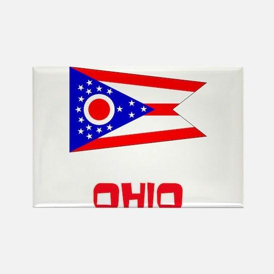 Ohio Flag Retro Red Design Magnets