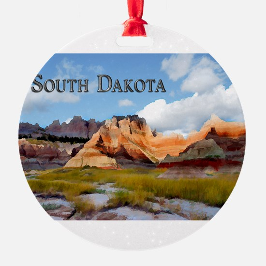Mountains Sky in the Badlands Nati Ornament