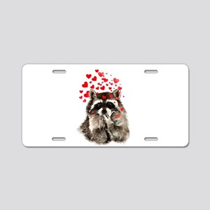 Raccoon Blowing Kisses Cute Animal Love Aluminum L