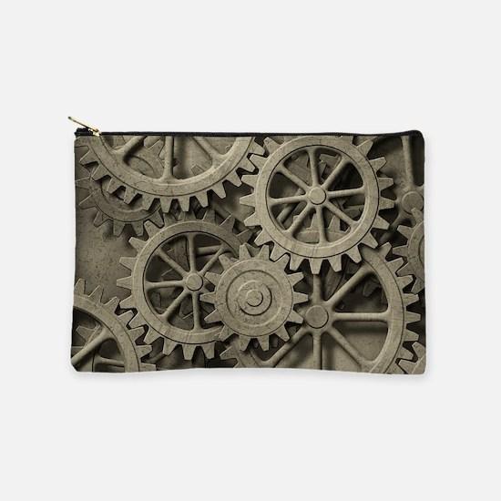 Steampunk Cogwheels Makeup Pouch