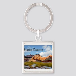 Mountains Sky in the Badlands National Keychains