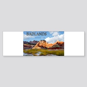Mountains Sky in the Badlands Nati Bumper Sticker