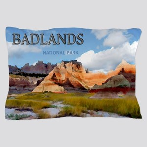 Mountains Sky in the Badlands Nationa Pillow Case