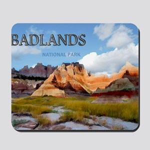 Mountains  Sky in the Badlands National  Mousepad