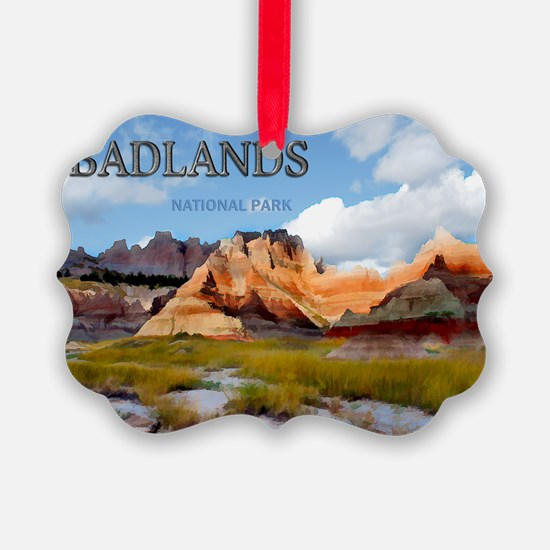 Mountains Sky in the Badlands Na Ornament
