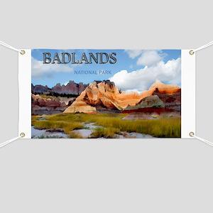 Mountains Sky in the Badlands National Par Banner