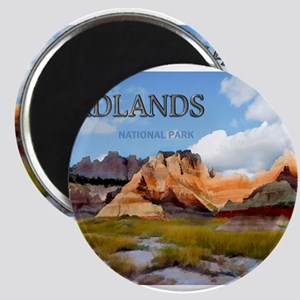 Mountains Sky in the Badlands National Pa Magnets