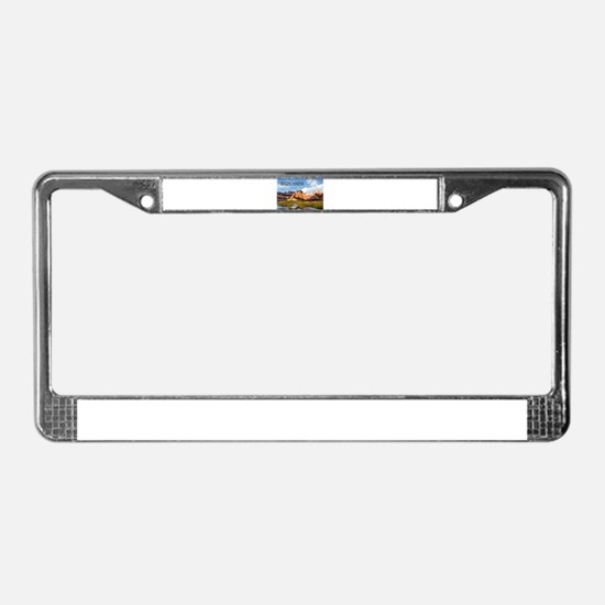 Mountains Sky in the Badlands License Plate Frame